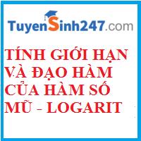 Tính giới hạn và đạo hàm của hàm số mũ - logarit