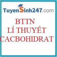 BTTN lí thuyết cacbohidrat (Có đáp án)