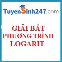 Bài tập giải bất phương trình logarit