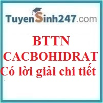 BTTN tổng hợp cacbohidrat (có lời giải chi tiết)