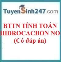 BTTN tính toán hidrocacbon no (có đáp án)
