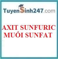Axit sunfuric và muối sunfat
