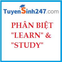 Phân biệt LEARN & STUDY