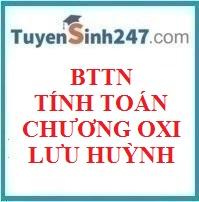 BTTN tính toán oxi - lưu huỳnh