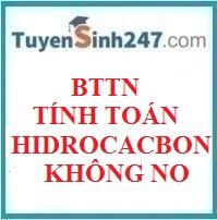 BTTN tính toán chương hidrocacbon không no