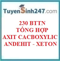 230 - BTTN tổng hợp axit cacboxylic - andehit - xeton