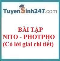 Bài tập nito - photpho (có lời giải chi tiết)