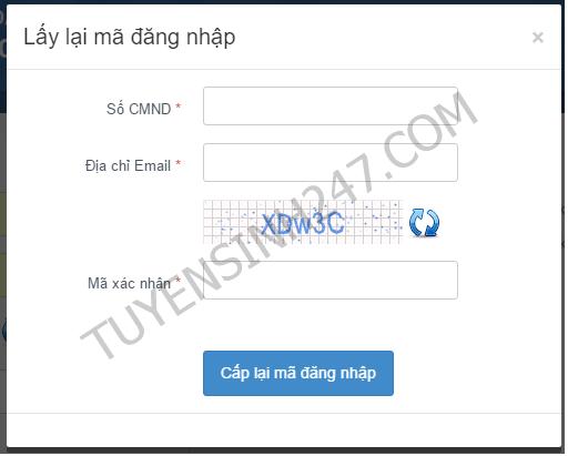 Đổi mật khẩu sau đó không truy cập được thisinh.thithptquocgia thì phải làm sao?