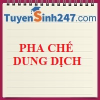 Pha chế dung dịch