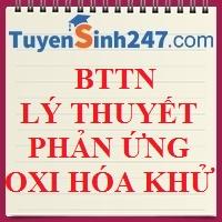 BTTN lý thuyết phản ứng oxi hóa khử