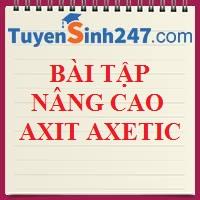 Bài tập nâng cao về axit axetic (lời giải chi tiết)