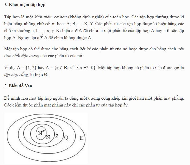 Lý thuyết và bài tập về Tập hợp