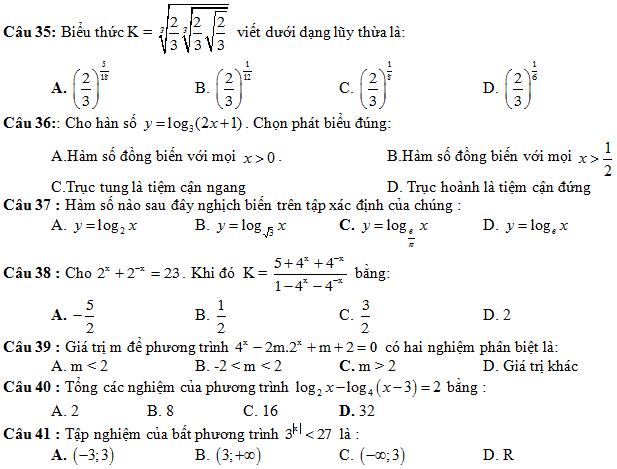 90 câu trắc nghiệm ôn tập HK1 môn Toán ( có đáp án)