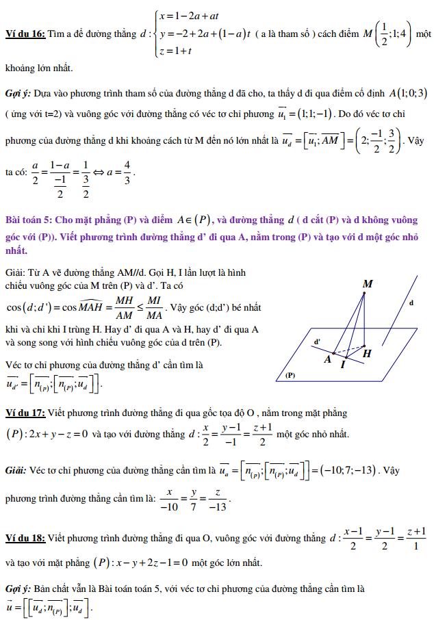 Hiểu bản chất bài toán cực trị trong hình tọa độ trong không gian (có hướng dẫn chi tiết)
