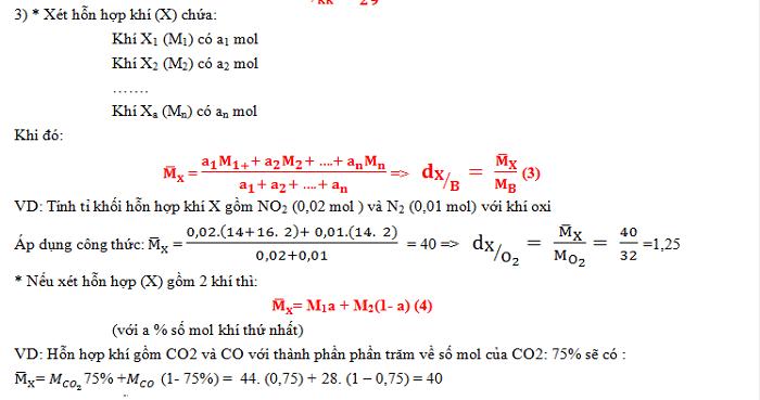 Bài tập về tỉ khối. Dạng 2 - Tính khối lượng mol