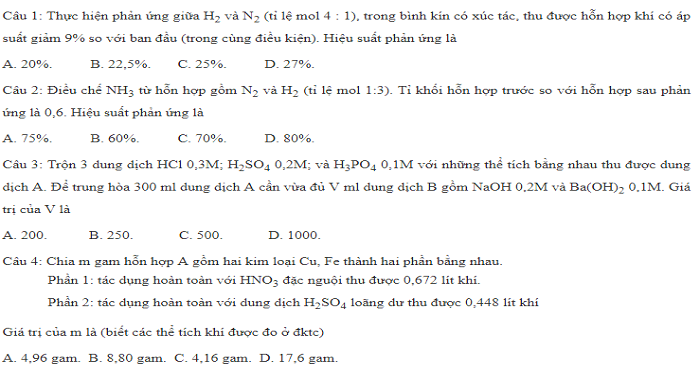 BTTN tính toán nito - photpho