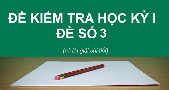 Đề kiểm tra học kỳ 1 - Sinh 12 - Đề 3