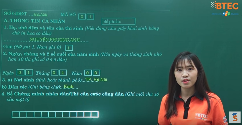 Video hướng dẫn điền phiếu ĐKDT THPT QG 2018 và xét tuyển ĐH, CĐ, TC