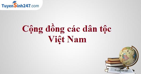Cộng đồng các dân tộc Việt Nam
